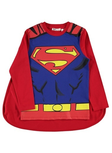 Superman Superman Erkek Çocuk Pelerinli Sweatshirt 6-9 Yaş Kirmizi Superman Erkek Çocuk Pelerinli Sweatshirt 6-9 Yaş Kirmizi Kırmızı